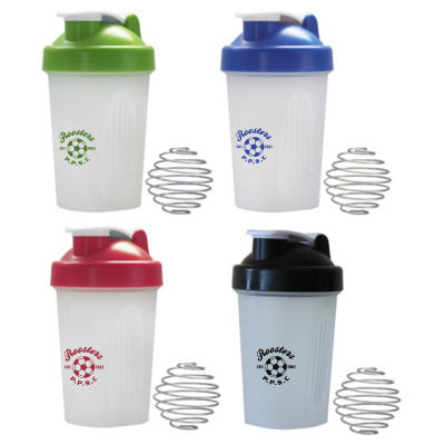 JM027 400ml Logo Protein Shakers With Mixer