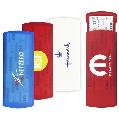 K292 Rectangular Logo Bandaid Dispensers With 5 Bandages