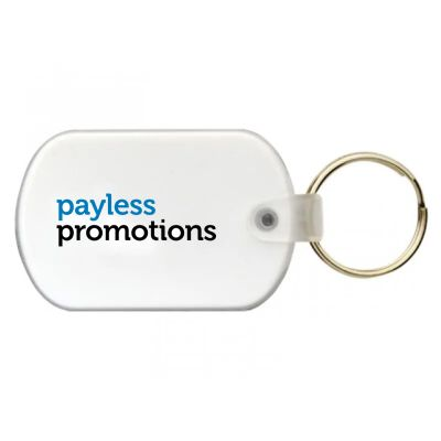 K35 Oval Promotional Plastic Key Tags