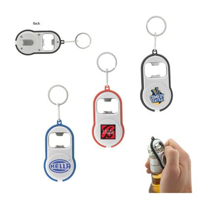 L289 Promotional Classic LED Torch Keytags With Bottle Opener