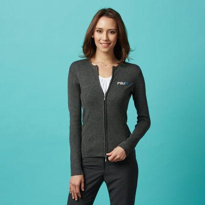 LC3505 Ladies 2-Way Zip Cardigans