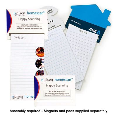 M407 Rectangular Printed Magnetic To Do List (With 25 Page Notepad Printed Black)