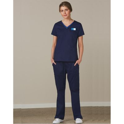 M9720 Ladies Multi Functional Pocketing Scrubs Pants With Stretch