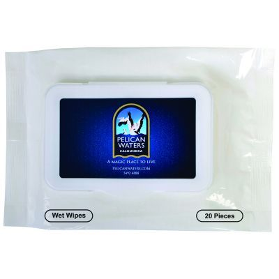 NP139 In Packet Custom Antibacterial Wipes With Fresh Citrus Scent