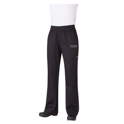 PW005 Ladies Essential Baggy Branded Chefs Pants