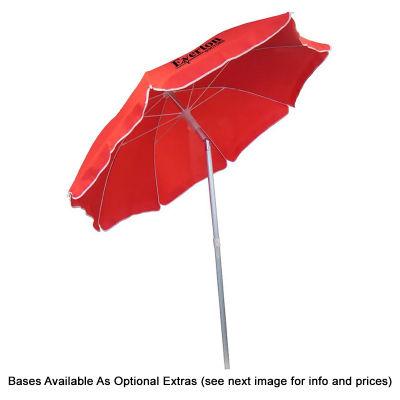 S110BGJC Piha 2.2m Jet Cloth Custom Beach Umbrellas With Aluminium Frame & Fibreglass Ribs