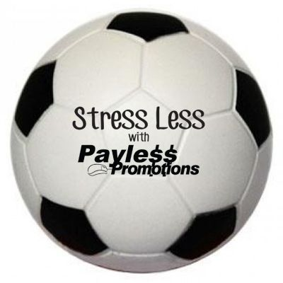 S13 Soccer Ball Black & White Promotional Sports Stress Shapes