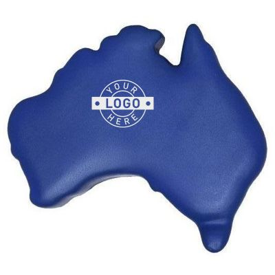 S45 Map Blue Promotional Travel Stress Balls