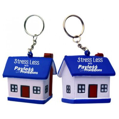 S57 House/Blue Roof Personalised Household Stress Balls