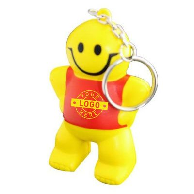 S82 Little Man Keyring Personalised People Stress Shapes