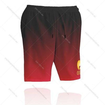 SH8-L Ladies Full-Custom Sublimation Long Sports Shorts With Pockets - S Series