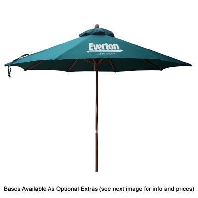 SP11TPAC Tuscany 3.5m Aluminium Logo Cafe Umbrellas With Acrylic Canvas Round Canopy