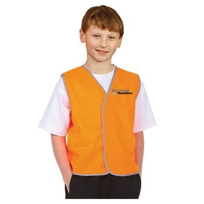 SW02K Kids Velcro Personalised High Visibility Vests