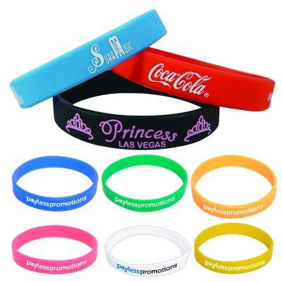 SW101 Solid Colour Team Silicon Wristbands