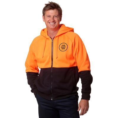 SW24 Two Tone Branded Hi Visibility Hoodies