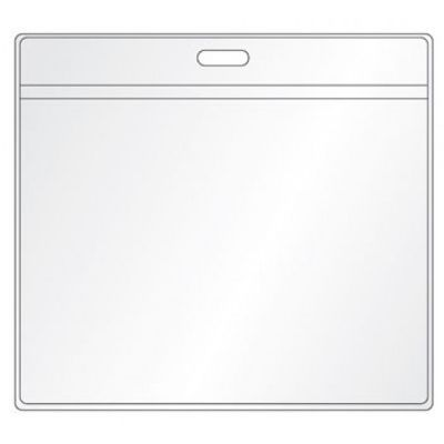 T07 Transparent Custom ID Card Holders For Card Sized 104mm x 86mm (Only Sold With Lanyards)