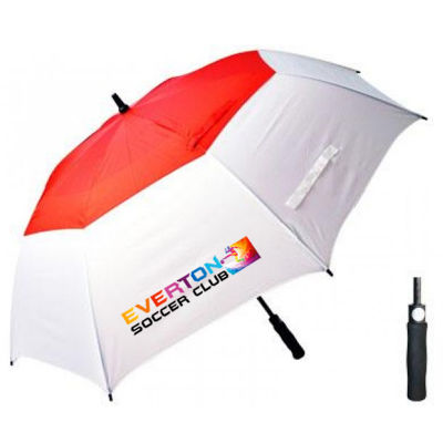 T31 Typhoon Vented Auto-Open II Promotional Golf Umbrellas With Fibreglass Shaft & Ribs