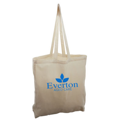 TB021 Traditional Custom Calico Carry Bags With Full Gusset (38cm x 42cm X 9cm)