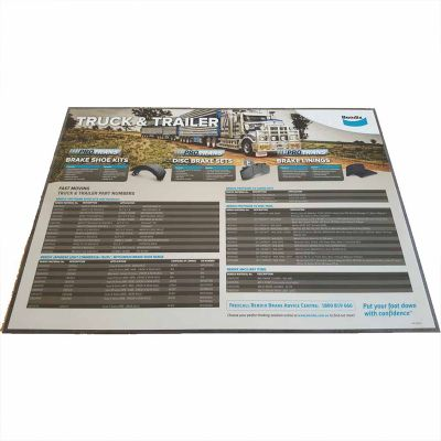 TCCM1 Tuff Coat Promotional Counter Mats With Adhesive Rubber Base (Various Sizes)