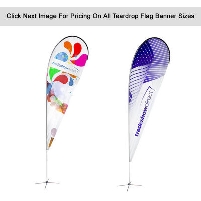 TDA Teardrop Flag With Cross Base And Waterbag