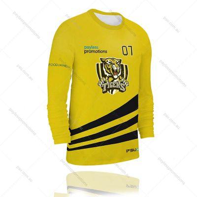 TS3-M Full-Custom Sublimation Long Sleeve T-Shirts - S Series