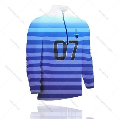 TS7-K+FISH Kids Full-Custom 1/4 Zip Fishing Shirts - S Series