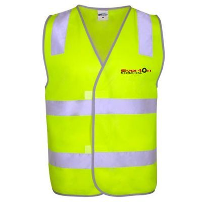 W3 Velcro High Visibility Vests With Reflective Tape & Full Colour Branding