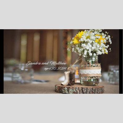 WD10 Flower Jar Wedding Stubby Holders - (4-6 Week Dispatch)
