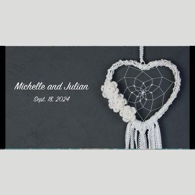 WD150 Woolen Heart Wedding Stubby Holders