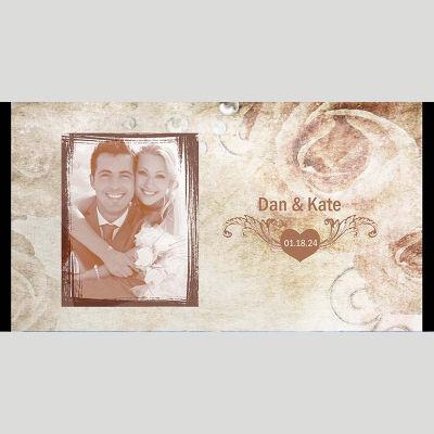 WD159 Vintage Photo Frame Wedding Stubby Holders - (4-6 Week Dispatch)