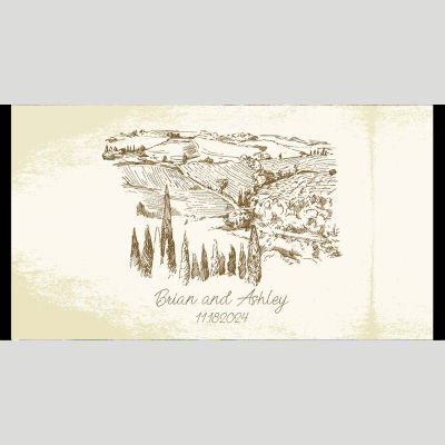 WD164 Vineyards Theme Wedding Stubby Holders - (4-6 Week Dispatch)