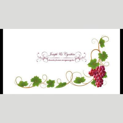 WD169 Grape Swirls Wedding Stubby Holders