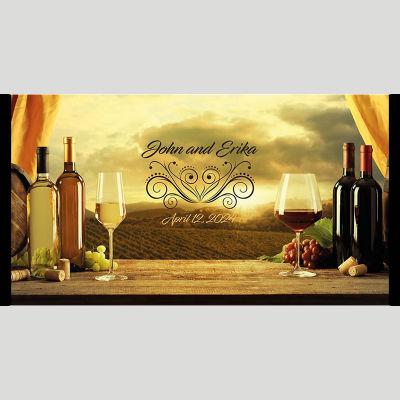 WD172 Wine Scene Wedding Stubby Holders