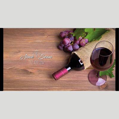 WD178 Red Wine Wedding Stubby Holders