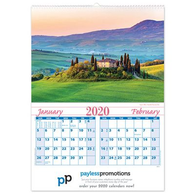 WD18C 6 Pages Branded Wall Calendars - World Destination