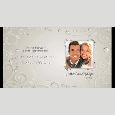 WD201 Photo Frame On Grey Background Wedding Stubby Holders