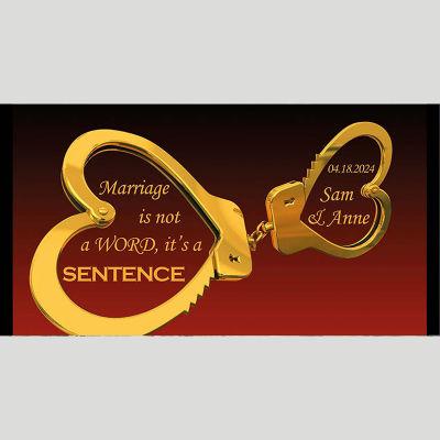 WD210 Heart Shaped Handcuff Wedding Stubby Holders