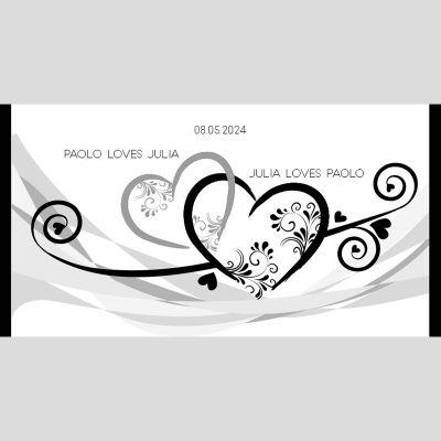 WD41 Love Hearts Wedding Stubby Holders