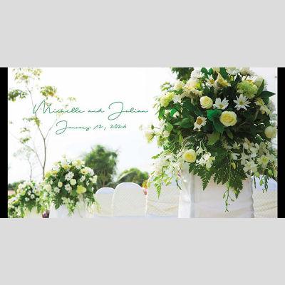 WD51 Flower Bunch Wedding Stubby Holders