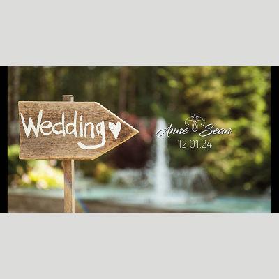 WD78 Wedding Sign Wedding Stubby Holders - (4-6 Week Dispatch)