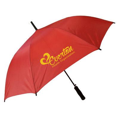 WG0025 Wedge Custom Golf Umbrellas With Steel Shaft & Fibreglass Ribs