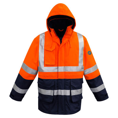 ZJ900 Arc Rated Anti-Static Promotional Hi Visibility Jackets With Reflective Tape