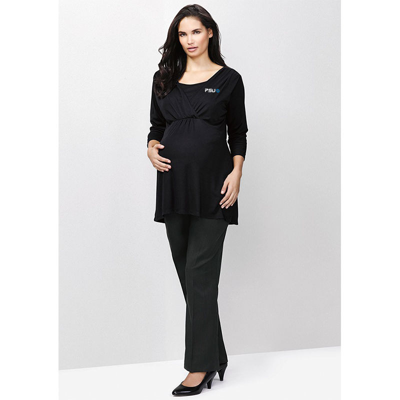 10100 Ladies Maternity Embroidered Dress Pants