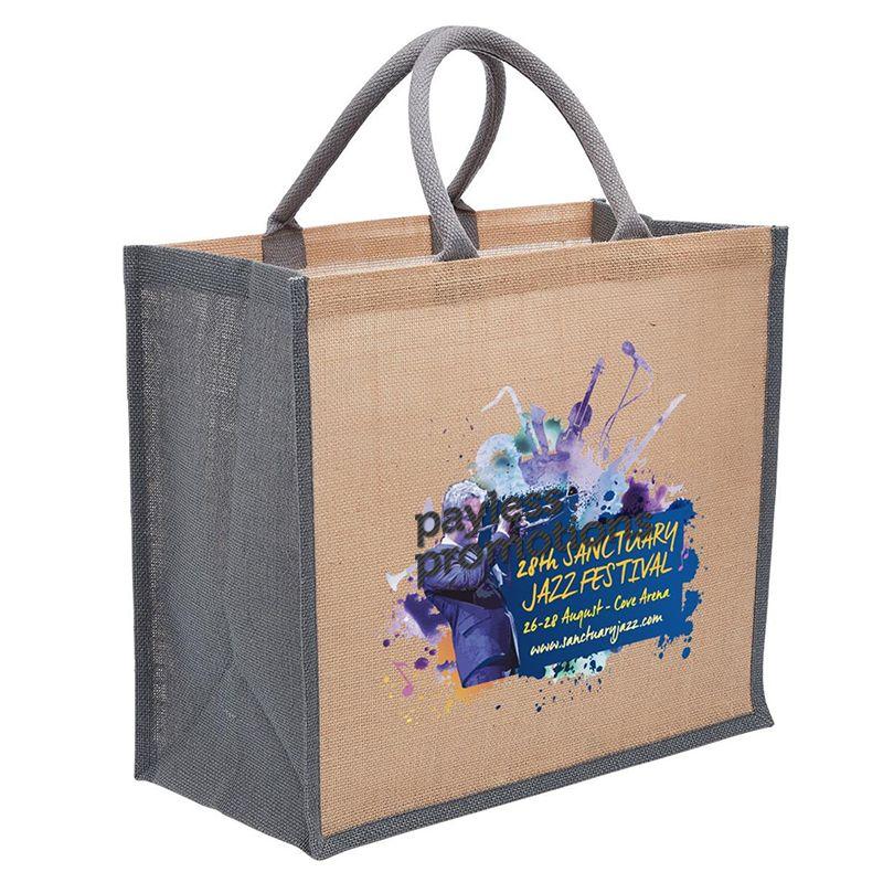 1184 Eco Custom Jute Bags With Wide Gusset - (40cm x 35cm x 20cm)