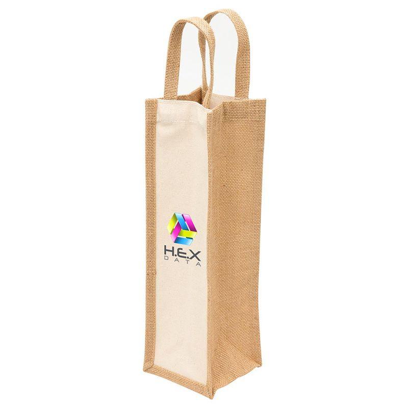 1195 Eco Canvas Printed Jute Bags - (11cm x 35cm x 11cm)