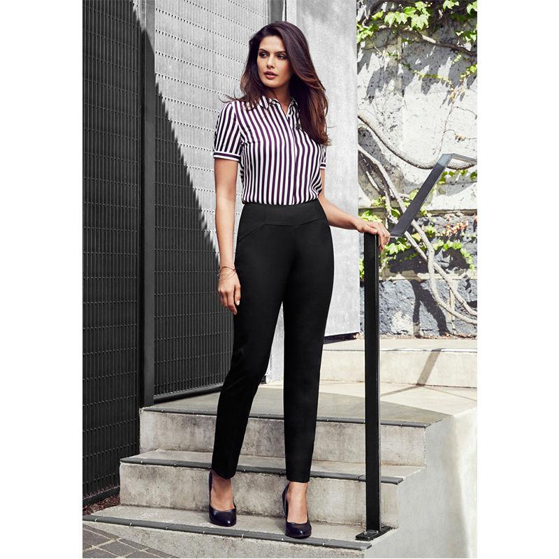 14021 Ladies Bandless Slim Leg Uniform Dress Pants
