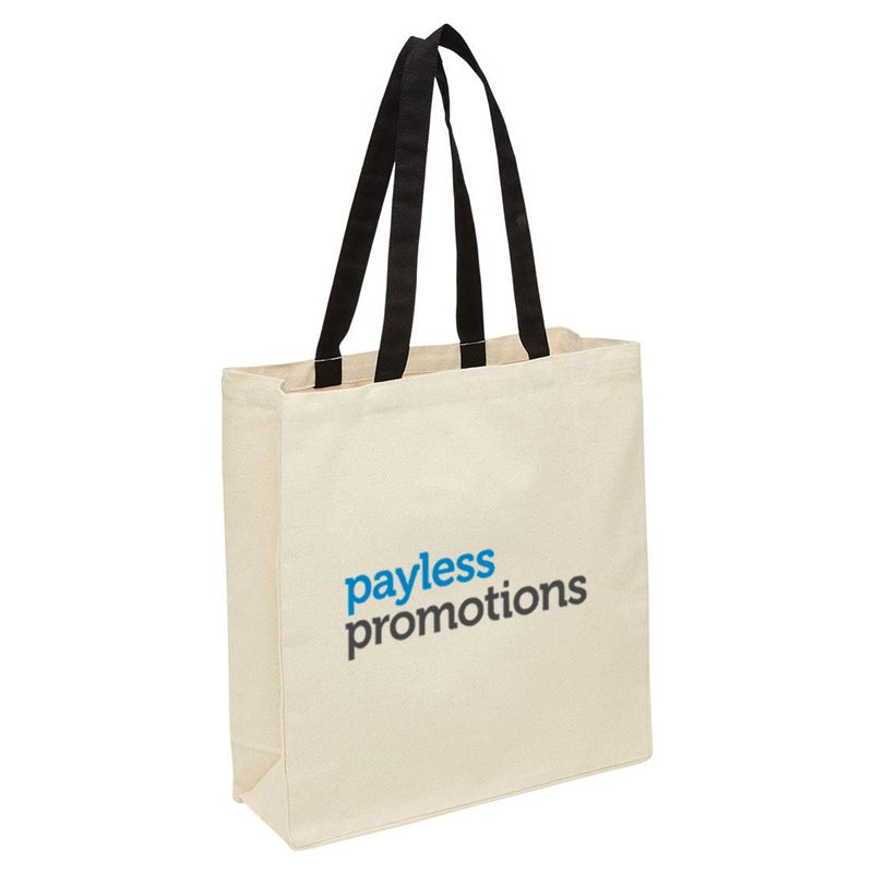 2002 Heavy Duty Canvas Branded Canvas Tote Bags With Gusset - (37cm x 40cm x 13cm)