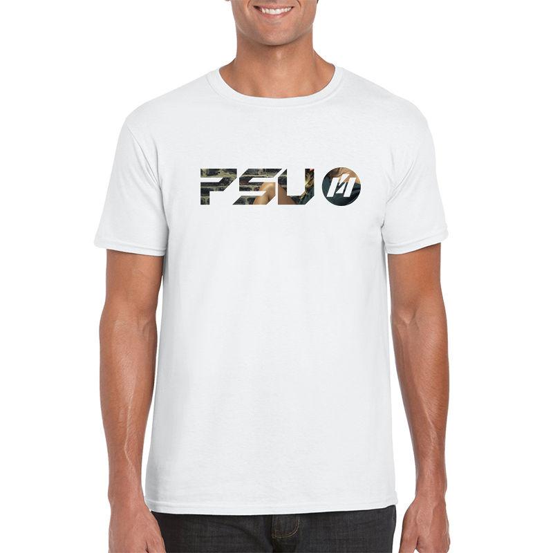 64000-WT Soft Blend Custom T Shirts - White Only