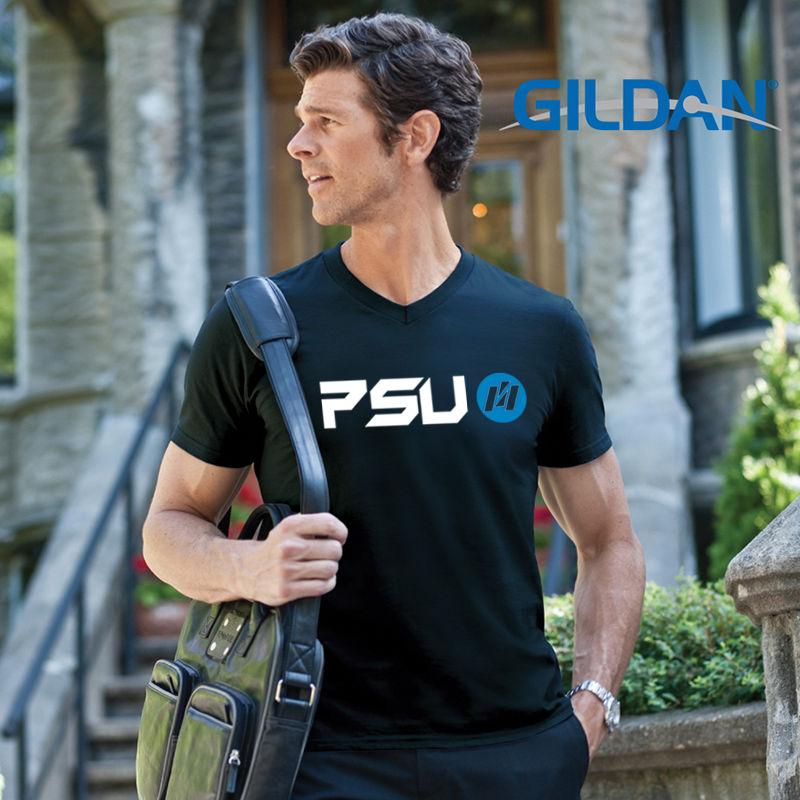 64V00 Softstyle V-Neck Custom T Shirts