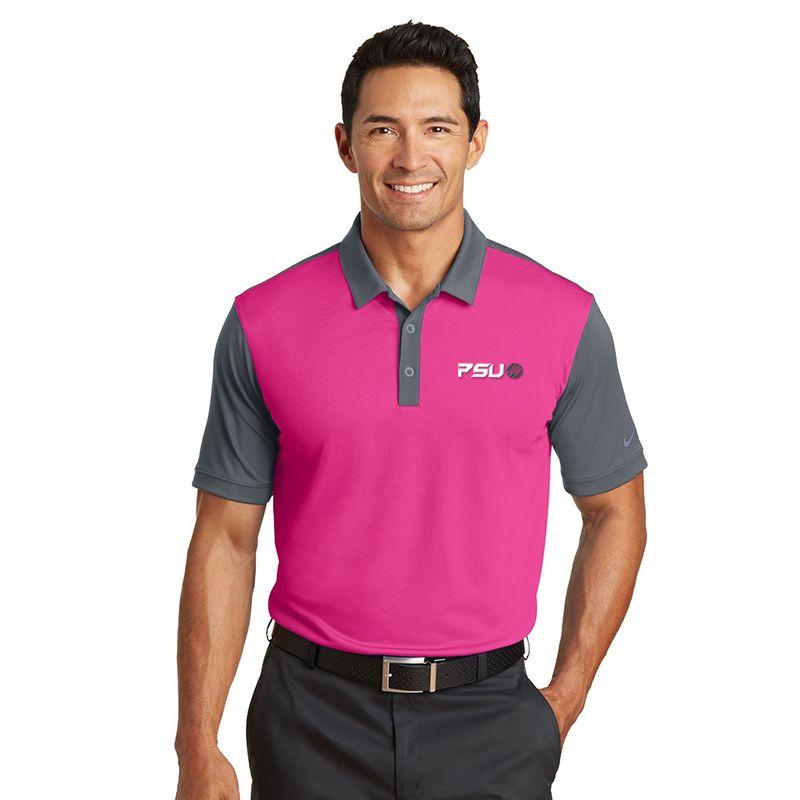 746101 NIKE GOLF Contrast Sleeve Colourblock Embroidered Polo Shirts